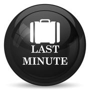 Stock Illustration of Last minute icon. Internet button on white background..