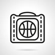 Basketball bag black simple line vector icon Stock Illustration