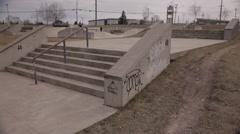 Skateboard Park Stock Footage