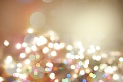 Colorful blurred circles abstract background. Copy space - stock photo