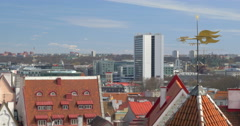 Old And Modern Architecture Of Tallinn Stock Footage