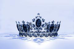 Jeweled Tiara - Sapphire - stock photo