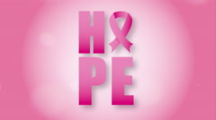 Breast cancer awareness design - stock footage