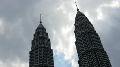 4k skyscraper kuala lumpur petronas towers business centre tall malaysia Stock Footage