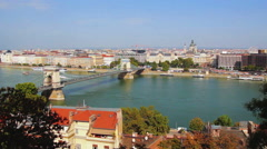 Budapest cityscape Stock Footage