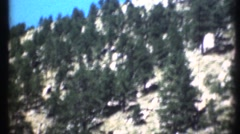 1948  ,Window view from car in the Rocky Mountains Stock Footage