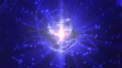 High Energy Ball Nuclear or Fiberoptic - stock footage