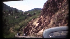 1948  ,Vintage cars driving in mountains Stock Footage