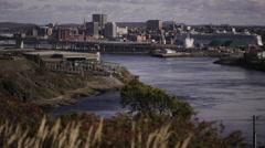 Saint John, NB Time Lapse. Stock Footage
