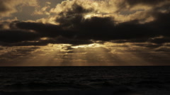 Sunrise on Atlantic Ocean Stock Footage