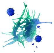 Abstract watercolor design - stock photo