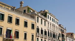 Stock Video Footage of Venetian architecture