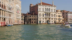 Traveling the Grand Canal Venice - stock footage