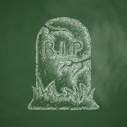 tombstone icon - stock illustration