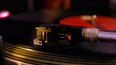 Gramophone, playing record Stock Footage