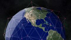 A global network surrounds the planet Earth - Earth 1013 HD, 4K - stock footage
