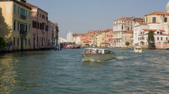 Water taxi in the Grand Canal Venice Stock Footage