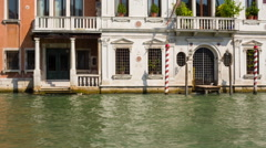 Venetian canal architecture Stock Footage