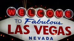 Welcome to Fabulous Las Vegas Sign - stock footage