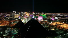 Las Vegas Strip view of Luxor Hotel at Night - stock footage
