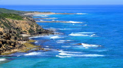 The Great Ocean Road, Victoria, Australia Stock Footage