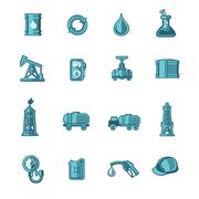 Oil Industry Icons Set Stock Illustration
