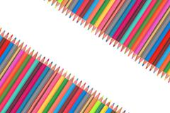 Colour pencils isolated on white - stock photo