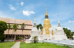Stock Photo of Exterior shot of Wat Suan Dok, Chiang Mai, Thailand.