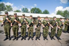Russian army scene - stock photo
