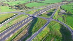 Aerial of Hume Highway Interchange overpass Stock Footage