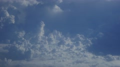 Clouds from Airplane aerial cumulus blue sky white big formations storm 4k - stock footage