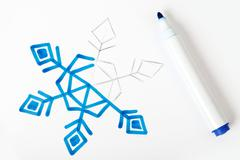 picture snowflake illustration - stock photo