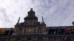 Stock Video Footage of The Town Hall - Antwerpen - Belgium