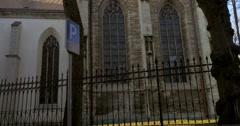St. Olaf Church In The Historical Centre of Tallinn Stock Footage