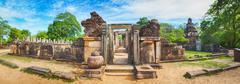 Hetadage. The Tooth Relic Temple Stock Photos