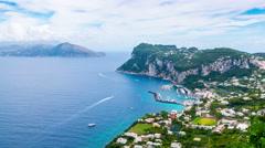 Capri island Italy sea - stock footage
