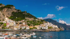 Stock Video Footage of Amalfi Italy sea cost sunny