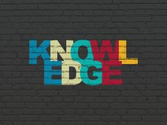 Education concept: Knowledge on wall background - stock illustration