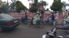 Mali Bamako Driving in Traffic Passenger POV Stock Footage