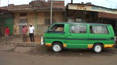 Mali Driving through the streets of Bamako SlowMo Stock Footage
