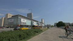 Wars Sawa Junior shopping center on Marszalkowska street, Warsaw Stock Footage