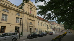 Church of England, on Krakowskie Przedmiescie street in Warsaw Stock Footage