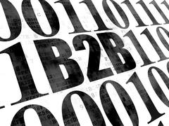 Finance concept: B2b on Digital background Stock Illustration