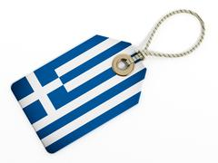 Stock Illustration of Greek flag on isolated tag