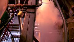 Boiler room and mechanical systems at the factory RN Stock Footage