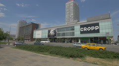 Wars Sawa Junior shopping center next to PKO Bank Polski in Warsaw Stock Footage