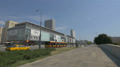 View of Wars Sawa Junior shopping center on Marszalkowska street, Warsaw Stock Footage