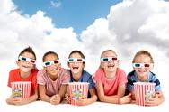 Stock Photo of Kids in the movies