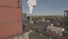 Stock Video Footage of Aerial view of industrial infrastructure, at the Coke production.