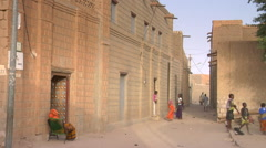 Mali Timbuktu Children Playing In Streets Stock Footage